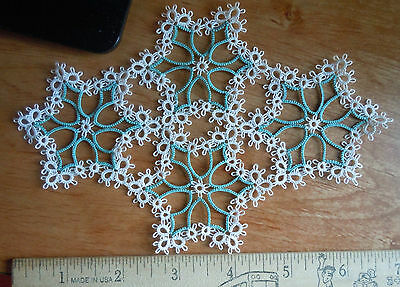 PAULINA  Doily Tatted Doilie, tatting Victorian CUSTOM made & Price is PER PIECE