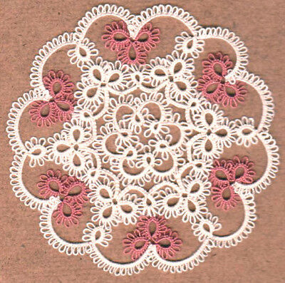 TINY LACEY  tatted doily doilie TATTING accent lace WOW