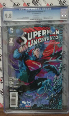 Superman Unchained #1 CGC 9.8 3-D Lenticular Cover.