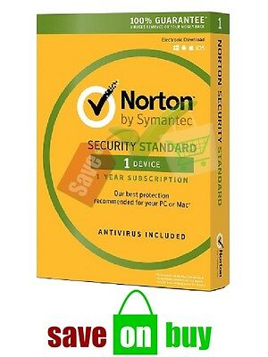 Norton Security 2019 - 1 User, 1 Year (Windows, Mac, iOS, Android) Key Card Only