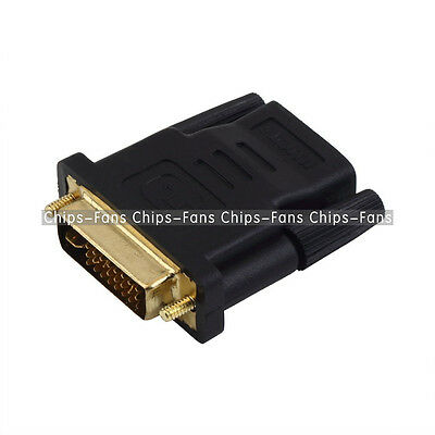 24+1pin DVI Male to HDMI Female adapter Gold-Plated M F Converter For HDTV LCD C