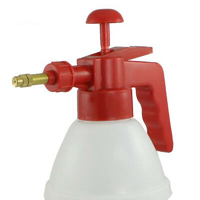 Red Handle White Body Plastic Water Spray Bottle Pressurized Sprayer FlyP