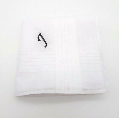 1x EMBROIDERED PERSONALISED HANDKERCHIEF INITIAL NAME LETTER MONOGRAM HANKIE