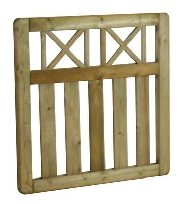 Wooden Garden Gate Elite Cross Top 900 x 900 mm Quality Pressure Treated Timber