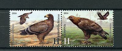 Belarus 2016 MNH Eagles Joint Issue Azerbaijan 2v Se-tenant Set Birds Stamps