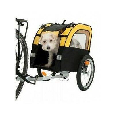 Dog Cycle Trailer Small Dogs 25kg Folds Storage Bike Ride Windows Travels Puppy