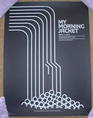 MY MORNING JACKET concert gig poster print LOUISVILLE 4-7-15 2015 mad pixel