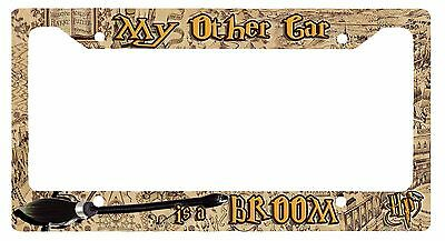 L@@K! My Other Car is a Broom - License Plate Frame - Harry Potter Quiddich