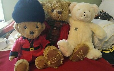 2005 Harrods 20th Anniv, Xmas Teddy Bear LARGE  & First Bear & Nightwatch mint
