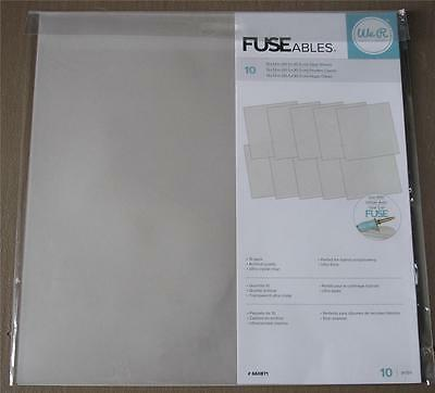 "We R FUSEables ~ Fuse Clear Sheets ~ 12""x12"" 10 pack use with Fuse Tool in store"