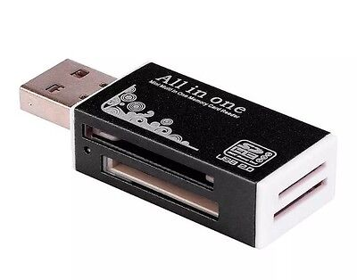 All in 1 USB 2.0 Micro SD TF MMC SDHC M2 MS Memory Card Reader Adapter Converter