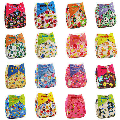 Baby Adjustable Reusable Washable Cloth Diaper Pocket Nappy Cover Wrap