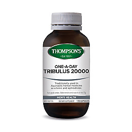 Tribulus 20000mg One-A-Day 120 Vege Capsules Thompsons