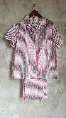 Vintage 1970s Two Piece Summer Weight Pajama Set LARGE MENS / 42 Cotton TOMMIES