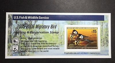 #RW72A 2005 - 2006 - US Federal Duck Stamp - Post Office FRESH