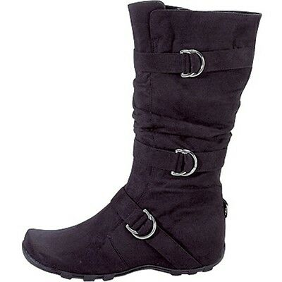 New Black Womens Mid-Calf High Boots Winter High Ladies Shoes Au Sizes
