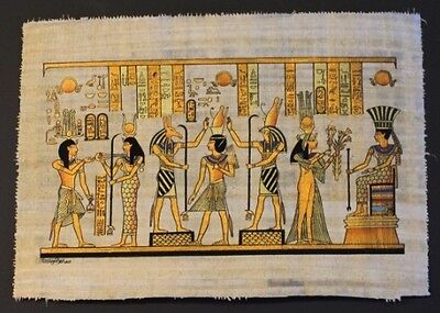 Egyptian Hand-Painted Papyrus Artwork: Crowing of King Ramses II
