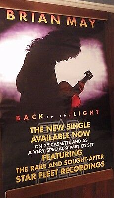 "40x60"" SUBWAY POSTER~Brian May of Queen 1992 Back to the Light Bohemian Rhapsody"