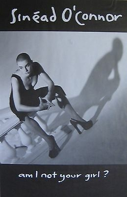 "40x60"" HUGE SUBWAY POSTER~Sinead O'Connor 1992 Am I Not Your Girl? NOS Original~"