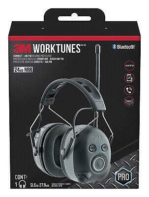 3M WorkTunes Wireless Hearing Protector with Bluetooth Technology,AM/FM Radio