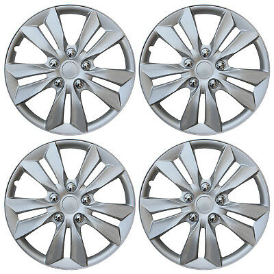 "4 pc Set Hub Cap ABS Silver 16"" Inch Rim Wheel Cover Replica Skin Covers Caps"