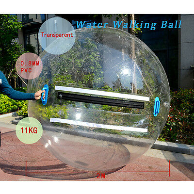 US 2M Walk Water Walking Dance Ball Roll Ball Inflatable Zorb Ball Tizip Zipper
