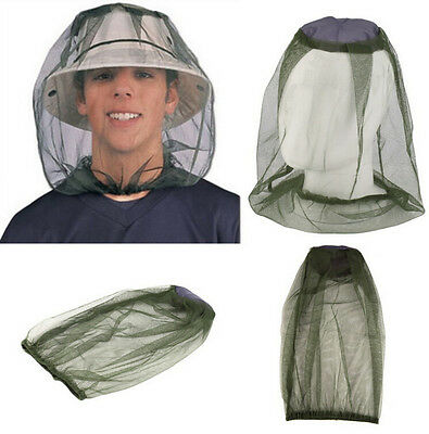 Face Mesh Bug Travel Camping Head Protector Insect Net Hat Midge Mosquito