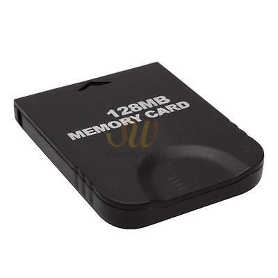 128MB Black Memory Card for Nintendo GameCube Wii (Brand New)