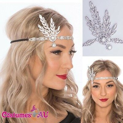 1920s 20s Great Gatsby Headband Vintage Bridal Headpiece Costume Accessory