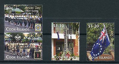 Cook Islands 2011 MNH Anzac Day World Scout Jamboree Silver OVPT 4v Set Stamps