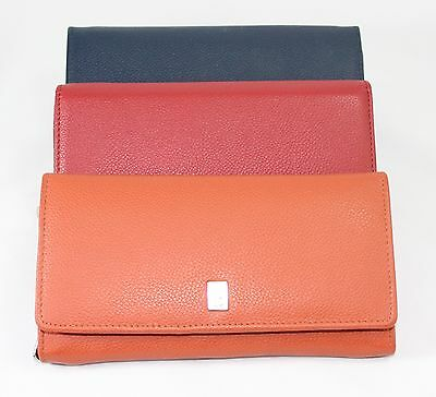 Portafogli Donna Pelle Grande Porta carte spicci documeti Lady Leather Wallet