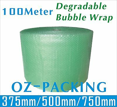 Degradable Bubble Wrap 100Meter - 375mm 500mm 750mm Green P10 Green Bubblewrap