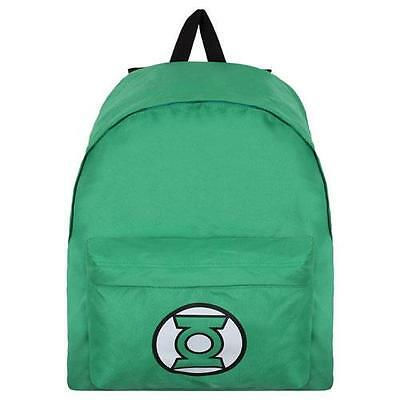 Green Lantern Classic Logo Canvas Backpack / Rucksack - New & Official DC Comics