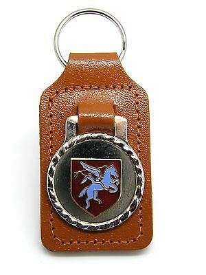 The Royal Army Airborne Paras Pegasus Army Badge Military Leather Keyring Gift