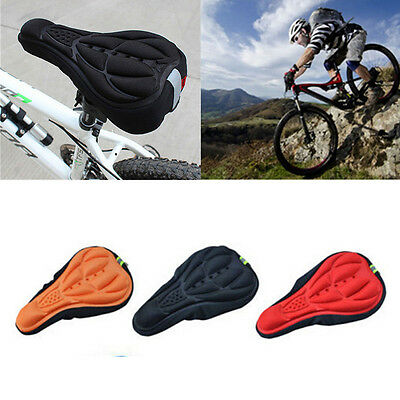 Cover Cushion Bike Saddle Seat Soft Gel Silicone 3D Pad Pad Cycling Bicycle