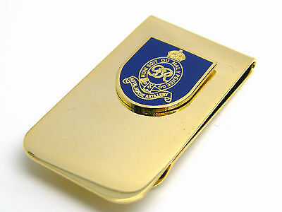 The Royal Horse Artillery Badge Money Clip Army Military Gift In Pouch
