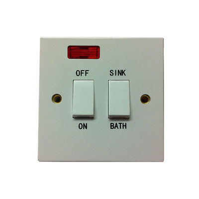 New Dual Immersion Switch White Double Pole With Neon Sink Bath Sale