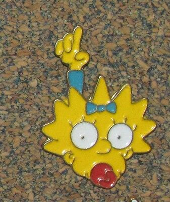B7 Vintage Pin The Simpsons Baby Maggie Bart Sister