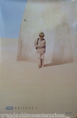 Star Wars 27x40 The Phantom Menace Advance 2 Sided Movie Poster DS One Sheet