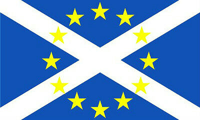 Scotland EU Flag 5 x 3 FT - 100% Polyester - New Yes Scottish In European Union