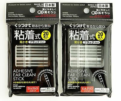 Daiso Adhesive Ear Clean Sticks Remove Earwax with Sticky Cleaner 40PC PACK