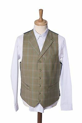 Mens Checked Heritage Tailored Single Breasted Waistcoat Maddox Street 38-46
