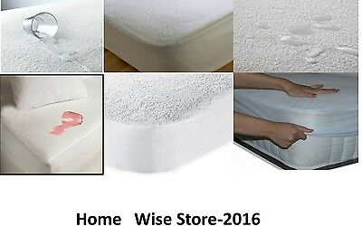 Terry Towel Water Proof Mattress Protector Fitted Sheet Bed Cover-All sizes