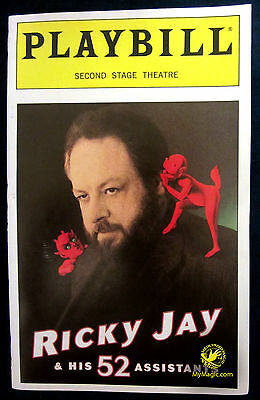 Original Ricky Jay & His 52 Assistants Broadway Playbill