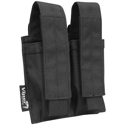 Viper Tactical Double Pistol Mag Pouch Ammo Carrier Airsoft MOLLE Webbing Black