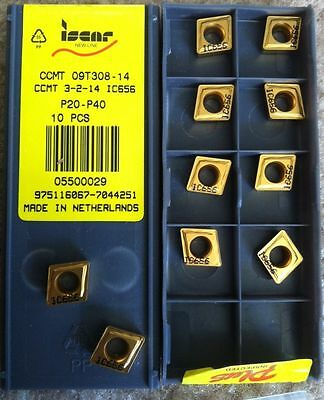 ISCAR CCMT 3-2-14 IC 656 P20 09T308 Carbide Inserts 10 Pcs Lathe Tool Gold New