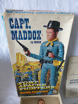 vintage Marx - Best of the West - Captain Madox Cavalryman + Zubehör  in Box