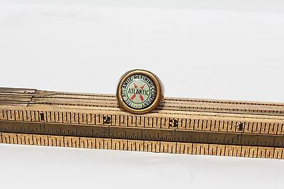 Vintage THE ATLANTIC REFINING COMPANY   Adjustable Brass Ring  Gumball / Toy
