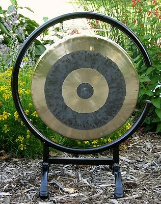 """12"""" Subatomic Gong on High C Gong Stand with Mallet"""