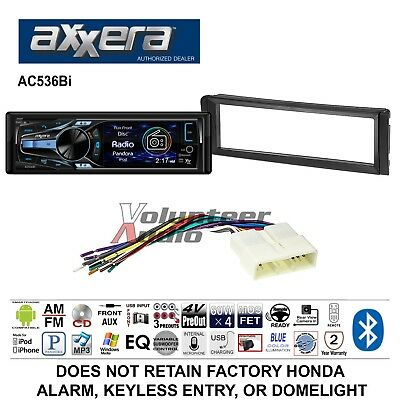 Axxera CD Honda Civic Radio Dash Install Mounting metra 70 1720 wiring harness for select 1986 98 honda accord  at virtualis.co
